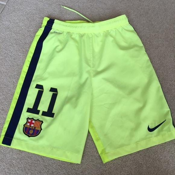Nike Bottoms Fc Barcelona Neon 11 Soccer Shorts Xl Poshmark